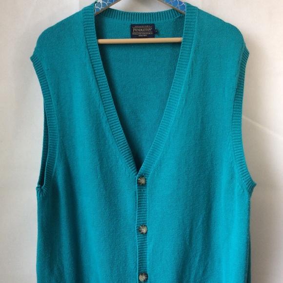 Pendleton Teal Sweater Vest Men's size XL